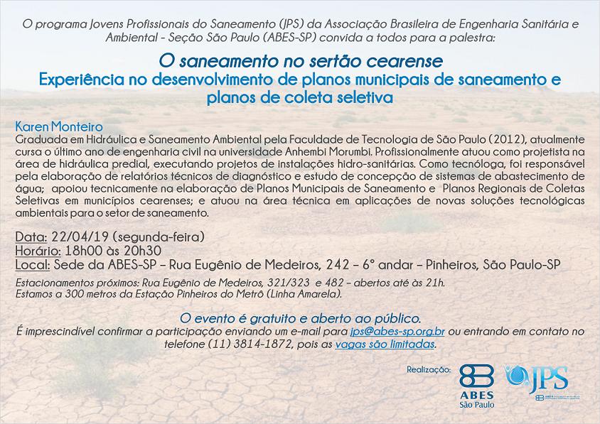 JPS -  Palestra O saneamento no sertão cearense - Copia