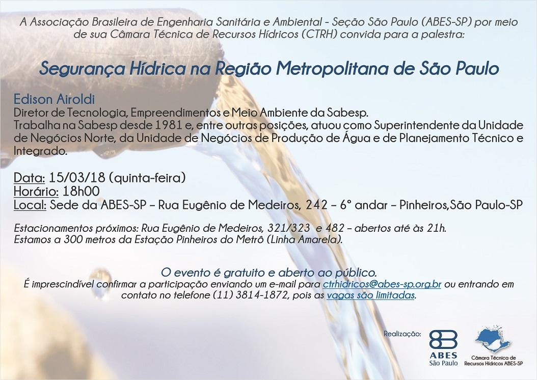 Palestra Segurança Hídrica na Região Metropolitana de São Paulo - Copia